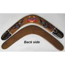 Promotional Returning Boomerang with Aboriginal Art, 12in, plywood