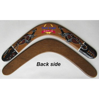 Promotional Returning Boomerang with Aboriginal Art, 14 in, plywood