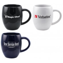 Barrel Promotional Coffee Mug - New Shape Three Color Options