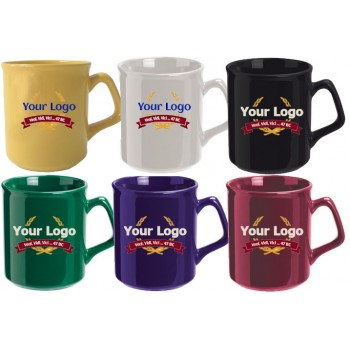 Flare Promotional Coffee Mugs in Seven Colors